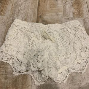 Express white Lacey shorts